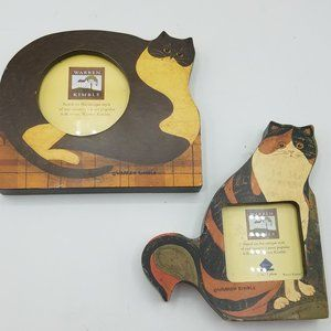 Warren Kimble Cat Frames lot of 2